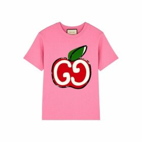 Gucci GG Apple-print Cotton T-shirt