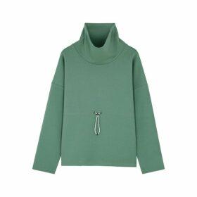 Varley Barton High-neck Cotton-blend Sweatshirt