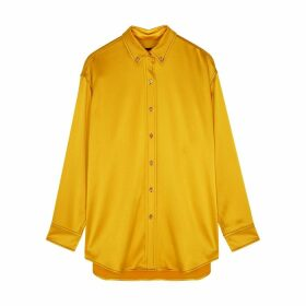 Sies Marjan Kiki Yellow Satin Shirt