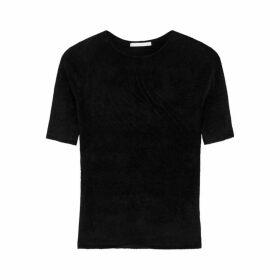 Helmut Lang Black Velvet T-shirt