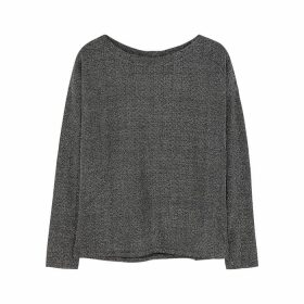 Paige Celeste Black Metallic-knit Jumper