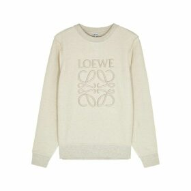 Loewe Logo-embroidered Terry-cotton Sweatshirt