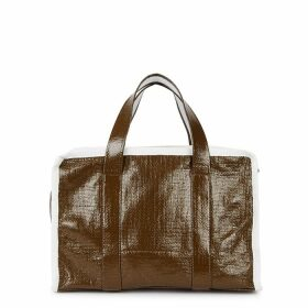 Kassl Editions Small Brown Textured Coated Tote