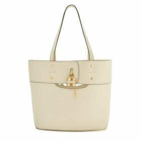 Chloé Aby Ivory Leather Bucket Bag