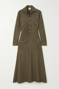 Oscar de la Renta - Belted Cotton-cloqué Jacket - White