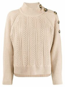 Pinko braided boxy-fit jumper - NEUTRALS