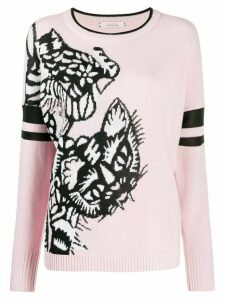 Dorothee Schumacher tiger embroidered jumper - PINK