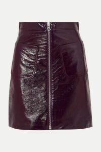 McQ Alexander McQueen - Coated-cotton Mini Skirt - Burgundy