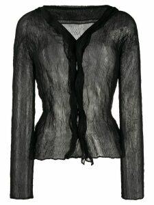 Issey Miyake chiffon twist blouse - Black
