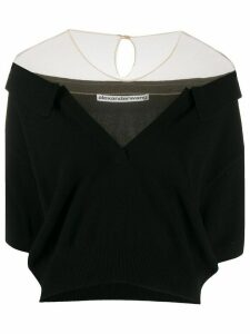 Alexander Wang off the shoulder cropped top - Black