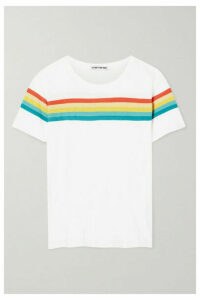 Elizabeth and James - Lakota Striped Cotton-jersey T-shirt - White