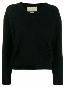 Gucci ribbed V-neck jumper - Black