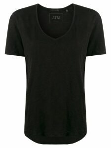 Atm Anthony Thomas Melillo short-sleeve flared T-shirt - Black