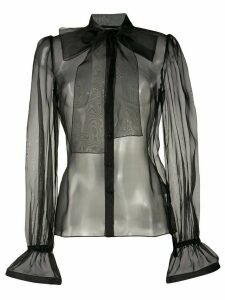 Dolce & Gabbana pussy bow sheer blouse - Black