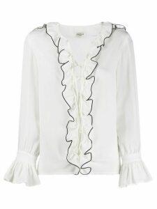 Jovonna ruffled shirt - White