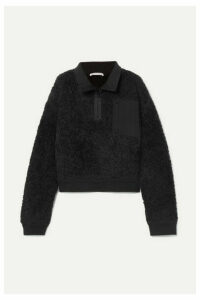 alexanderwang.t - Oversized Wool-blend Fleece Sweatshirt - Black