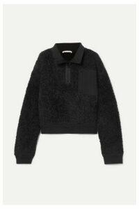 alexanderwang.t - Oversized Wool-blend Fleece Sweatshirt - Black
