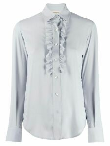 Blanca Vita long-sleeved ruffled shirt - Blue