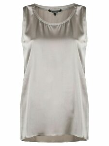 Luisa Cerano sleeveless flared top - Grey