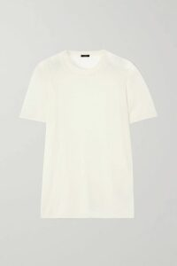 Equipment - + Tabitha Simmons Signature Printed Satin Shirt - Black