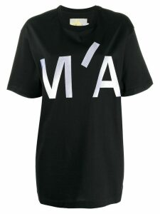 Marques'Almeida oversized front logo T-shirt - Black