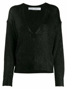 IRO Nanga metallic loose-fit jumper - Black
