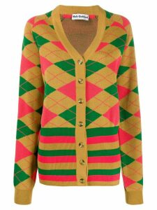 Molly Goddard longline intarsia knit cardigan - NEUTRALS