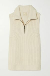 Helmut Lang - Cotton-terry And Ribbed-knit Sweatshirt - Black