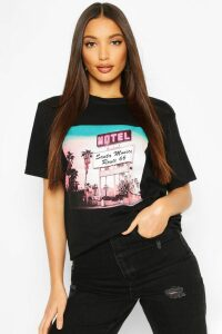 Womens Tall Retro Graphic T-Shirt - Black - M, Black