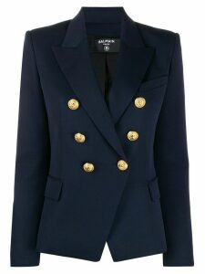 Balmain double-breasted fitted blazer - Blue