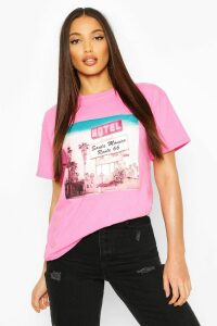 Womens Tall Retro Graphic T-Shirt - Pink - M, Pink
