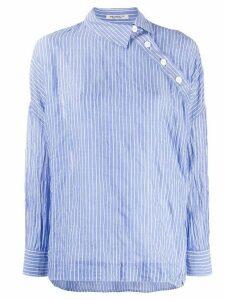 Yohji Yamamoto oversized asymmetric shirt - Blue