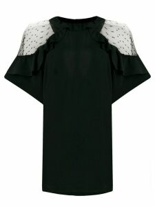 RedValentino tulle details ruffled blouse - Black