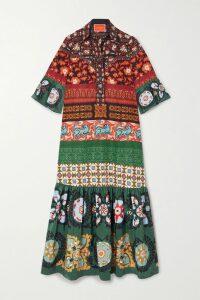 Peter Do - Draped Printed Silk Crepe De Chine Shirt - Brown