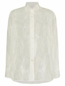 LVIR sheer lace shirt - White