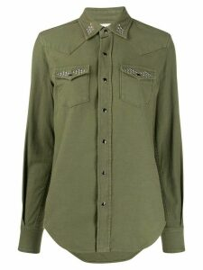 Saint Laurent stud-embellished shirt - Green