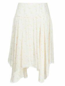 See by Chloé fil coupé skirt - White