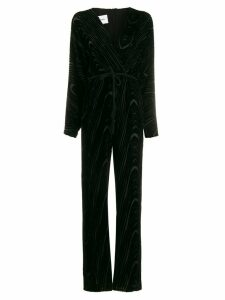 Nanushka velvet-flocked jumper - Black