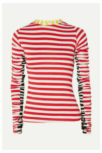Preen Line - Uri Ruched Striped Stretch-jersey Top - Red