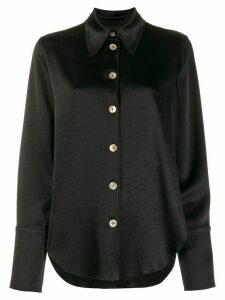 Nanushka button-down long sleeve blouse - Black