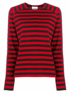 GANNI striped long-sleeve T-shirt - Black