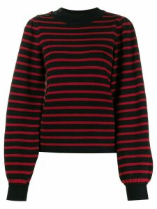 GANNI striped pattern top - Red