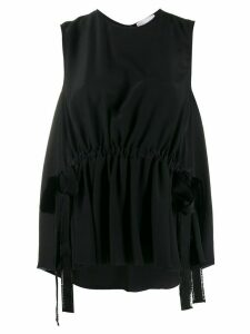 RedValentino ribbon tank top - Black