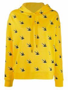 McQ Alexander McQueen swallow print hoodie - Yellow