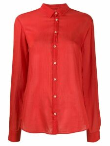 Forte Forte My Shirt Fiamma crinkle shirt - Red