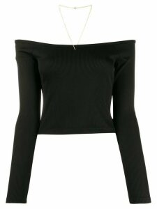 T By Alexander Wang off-the-shoulder cropped top - Black