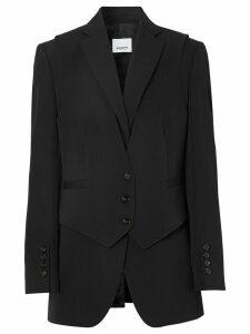 Burberry waistcoat overlay blazer - Black
