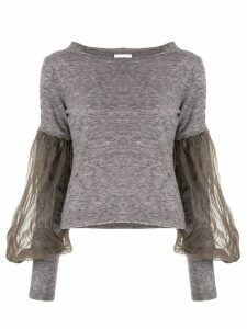 PHAEDO STUDIOS long-sleeve contrast jumper - Grey