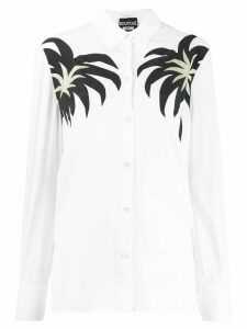 Boutique Moschino palm print shirt - White