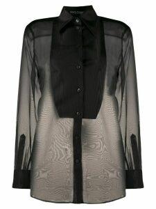 Dolce & Gabbana silk bib shirt - Black